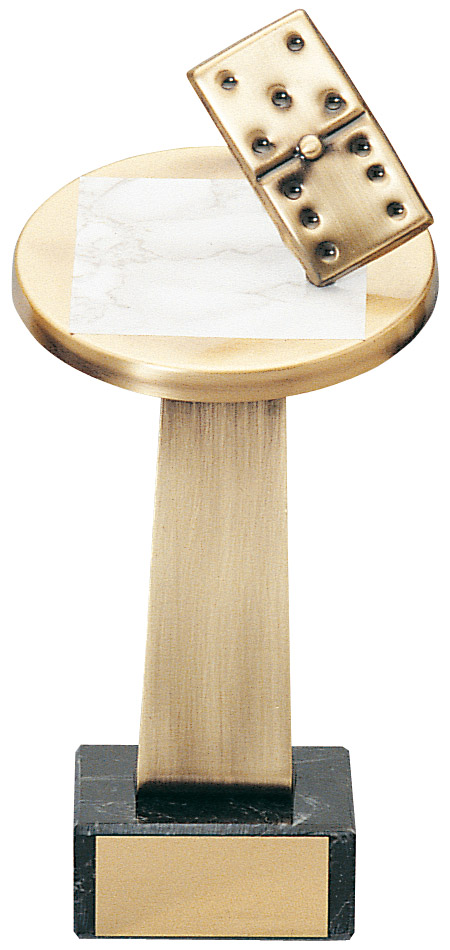 Domino Table Handmade Metal Trophy - 753 L