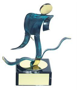 Duathlon Blue Figure Handmade Metal Trophy - 600 DU
