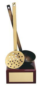 Kitchen Utensils Handmade Metal Cookery Trophy - 441