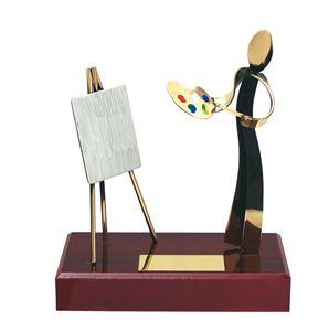 Artist Figure Handmade Metal Trophy - 300 PN