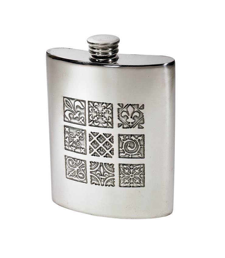6oz Medieval Pewter Kidney Hip Flask - 4756MED