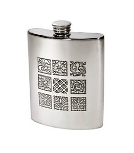 6oz Medieval Pewter Kidney Hip Flask - 4756MED