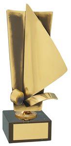 Sailing Upright Handmade Metal Trophy - 104 VE