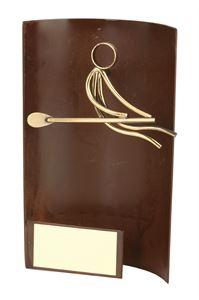 Rowing Rectangular Handmade Metal Trophy - 2337