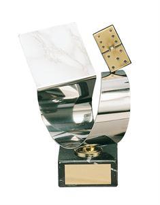 Silver Curve Domino Handmade Metal Trophy