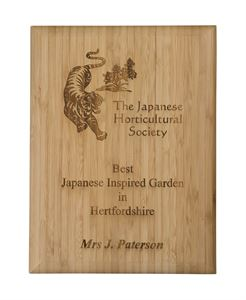 Laser Engravable Solid Bamboo Plaque - WP10
