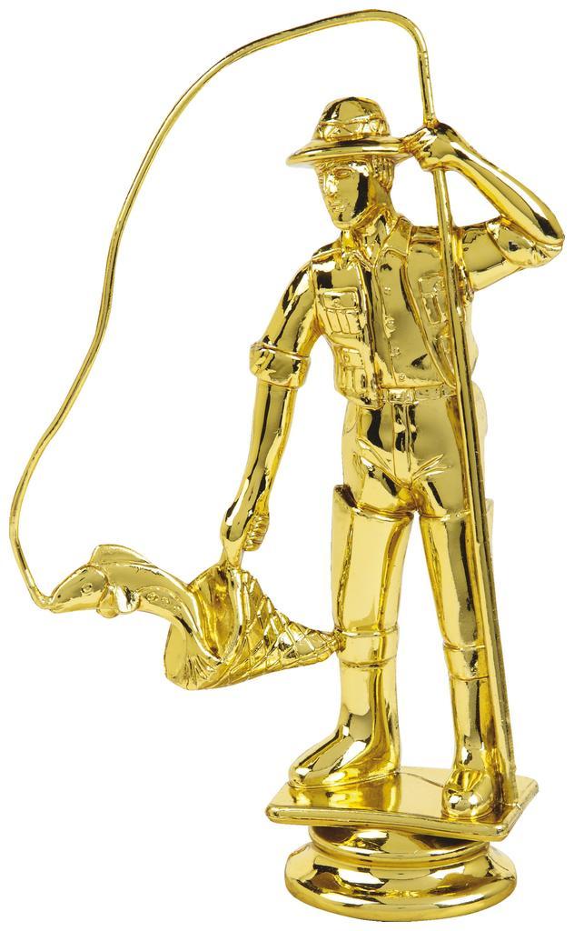 Gold Fisherman Trophy Figure Top - T.6129