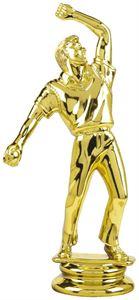 Gold Cricket Bowler Trophy Figure Top - T.4361