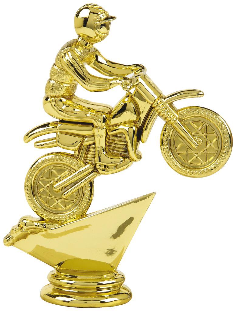 Gold Motor Cross Trophy Figure Top - T.6087