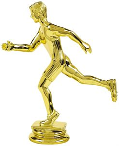 Gold Male Running Trophy Figure Top - T.6102