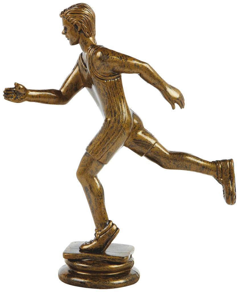 Antique Gold Male Running Trophy Figure Top - T.6103