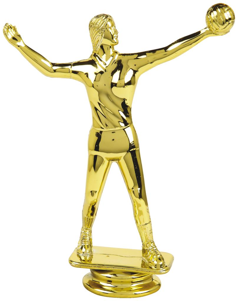 Gold Female Volleyball Trophy Figure Top - T.6135