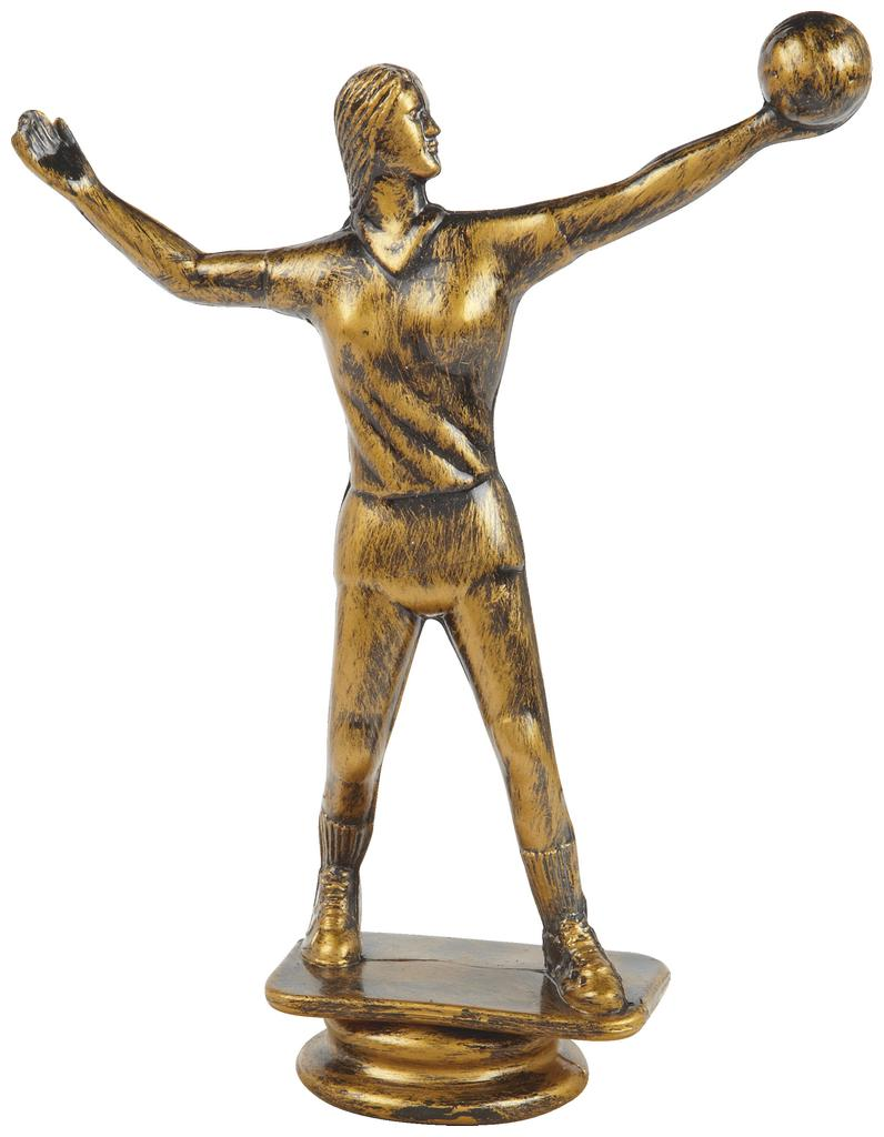 Antique Gold Female Volleyball Trophy Figure Top - T.6136