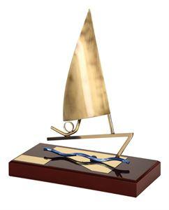 Golden Sail Handmade Metal Trophy - 806