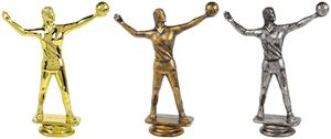 Female Volleyball Trophy Figure Top