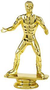 Gold Wrestling Trophy Figure Top - T.6854