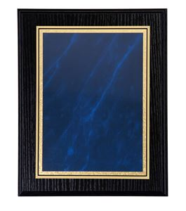Black Ash Plaque with Blue Marble Mist Front - LPF02