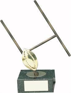 Rugby Posts Handmade Metal Trophy  - 305