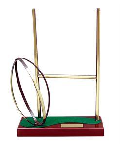 Rugby Try Handmade Metal Trophy - 691