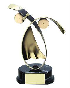 Modern Dance Handmade Metal Trophy - 653