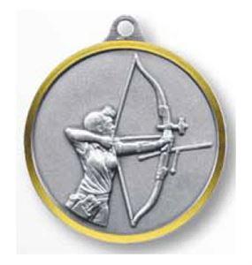 Bulk Purchase - Female Archer Brass Medal - 281