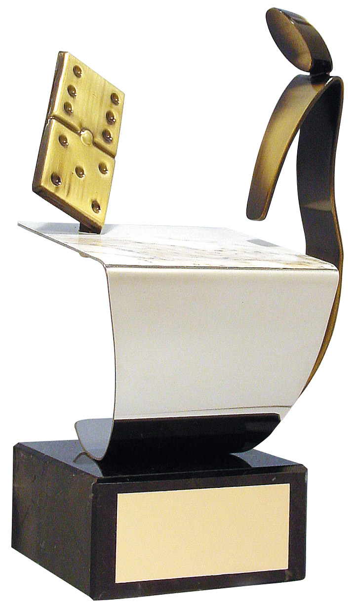 Domino Figure and Table Handmade Metal Trophy - 325