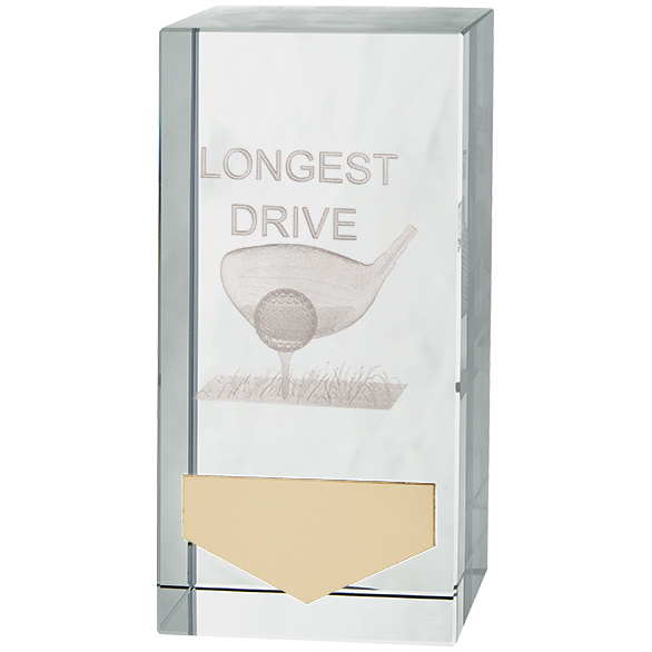 Inverness Golf Longest Drive Crystal Award - CR18130