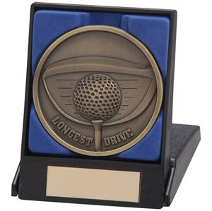 Link Golf Longest Drive Medal & Box - MB4559