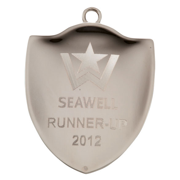 Silver Prestige Shield Medal (size: 72mm) - MM1782S