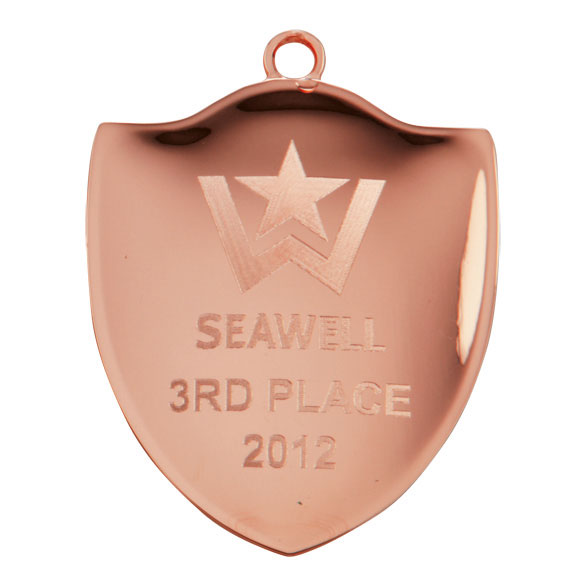 Bronze Prestige Shield Medal (size: 72mm) - MM1782B