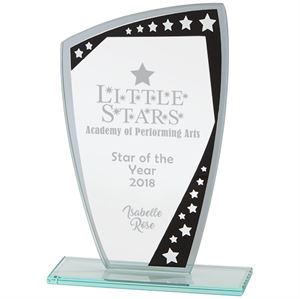 Cosmic Mirror Glass Award Black and Silver - CR18116