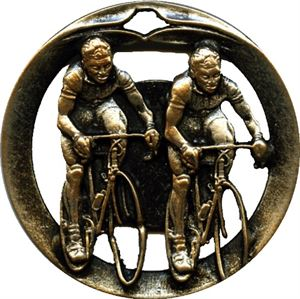 Circular Frame Cycling Medal - MTL914
