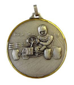 Embossed Go Karting Medals