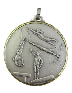 Embossed Gymnastics Medals