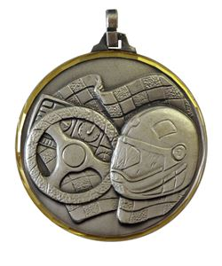Embossed Motor Racing Medals