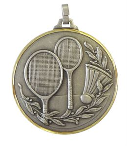 Embossed Badminton Medals
