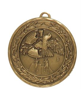 Embossed Clay Pigeon Medals