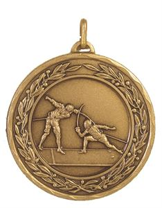 Embossed Fencing Medals