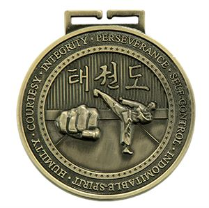 Embossed Taekwondo Medals