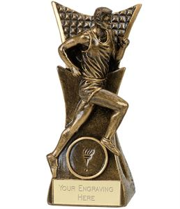Conqueror Male Running Trophy Antique Gold - A4033A