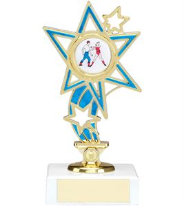Blue Shooting Star Figure Trophy - 1225A