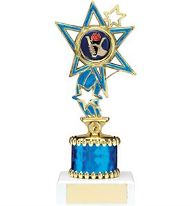 Blue Shooting Star Column Trophy - 1224A