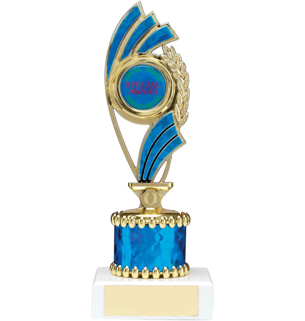 Blue Curve Column Trophy - 1226A