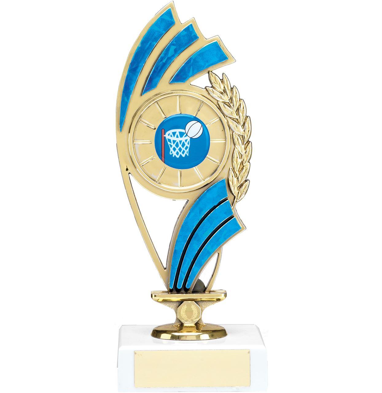 Blue Curve Figure Trophy - 1223B