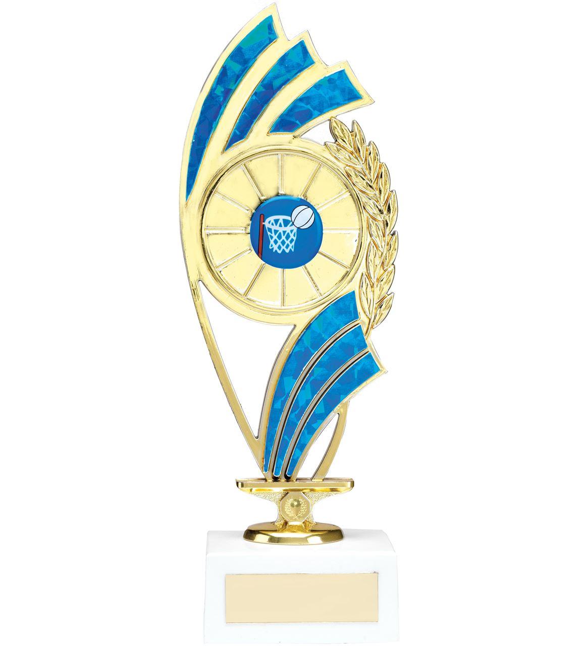 Blue Curve Figure Trophy - 1223D