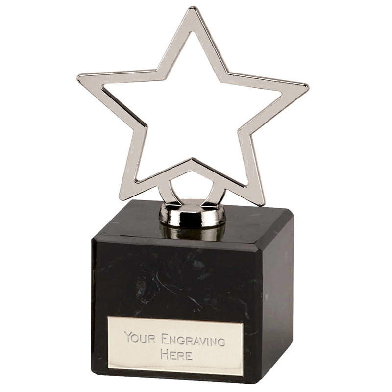 Galaxy Silver Cast Metal Star Award - 189B