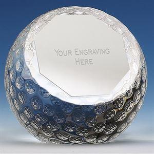 Orb Glass Golf Ball Paperweight - PA04