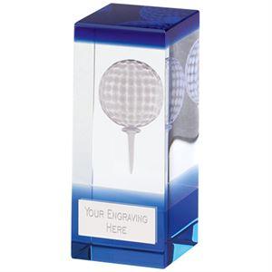 Orbit Blue Golf Crystal Award - KM047