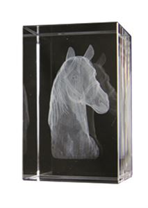 Bulk Purchase - 3D Glass Equestrian Award Small - GC7