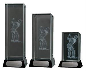 3D Glass Male Golfer Award - 67/1